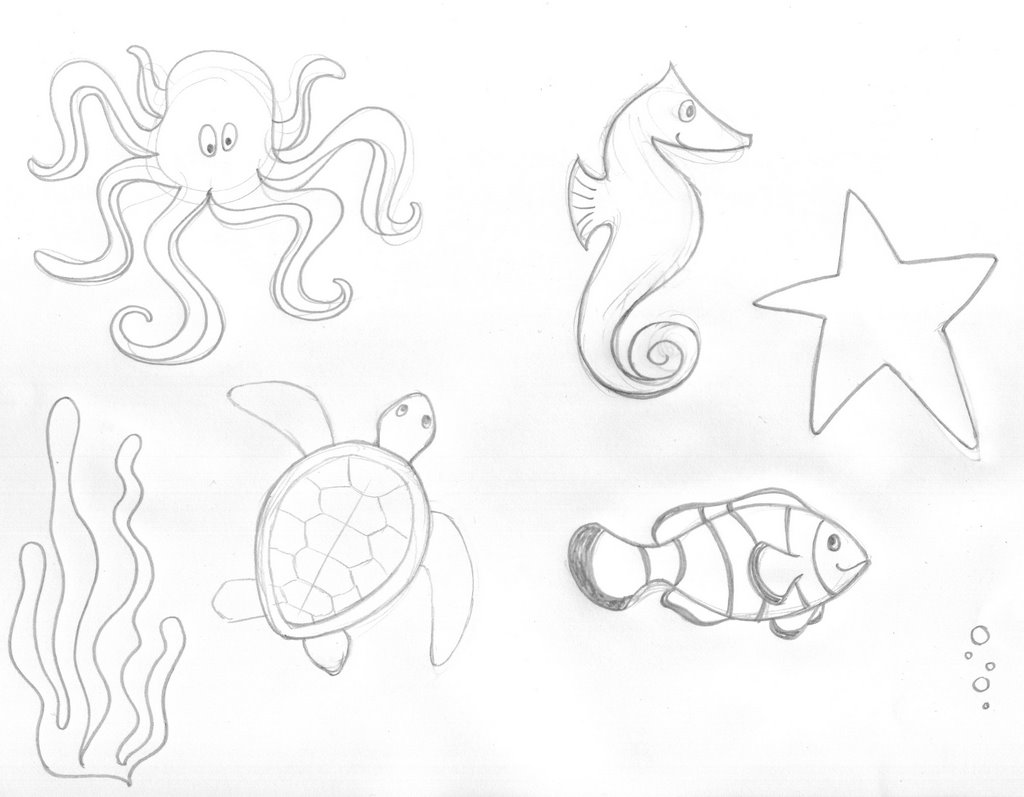 1024x797 Sea Creatures! (With Measles!) Lisa Gaumond