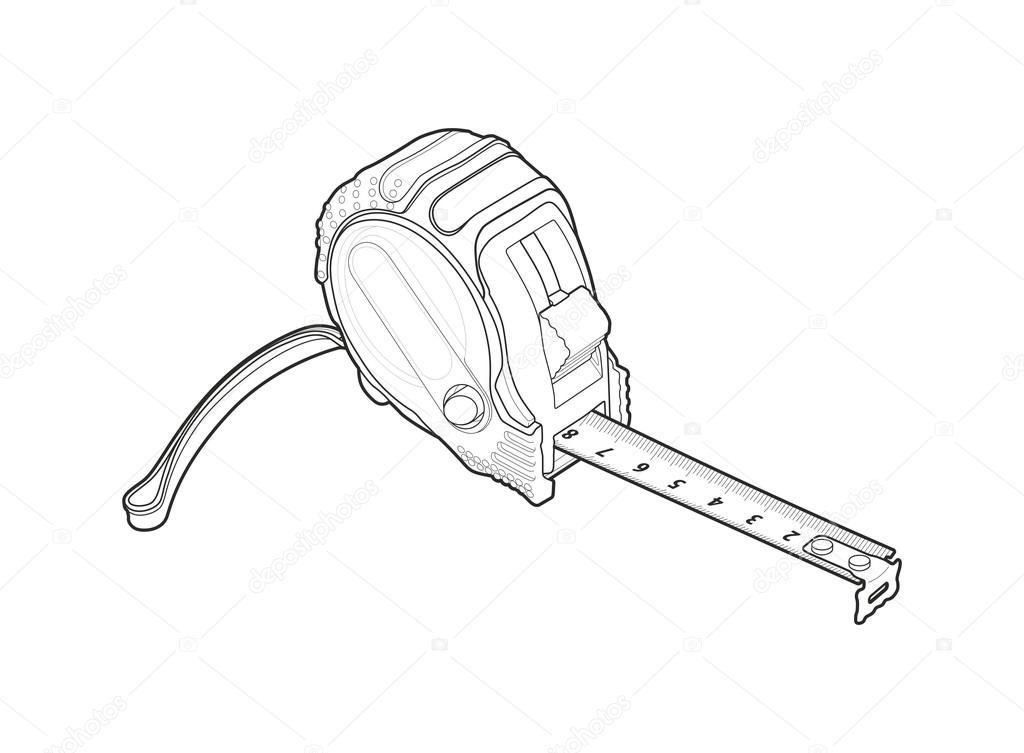 1024x753 Roulette Measure Building Drawing Stock Photo Fobosvobos63