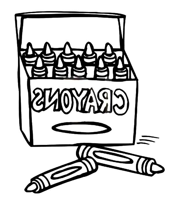 600x684 Box Crayons For Drawing Lesson Coloring Pages Best Place To Color