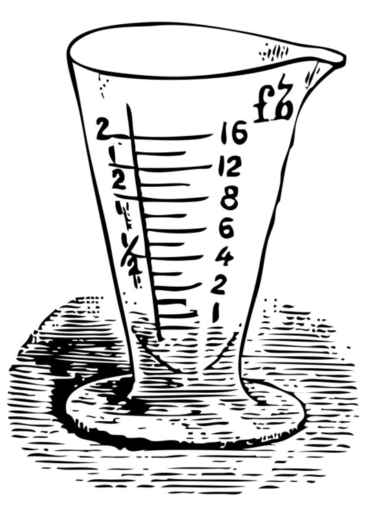 531x750 Coloring Page Measuring Cup