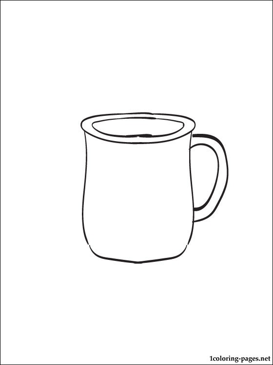560x750 Cup Coloring Pages