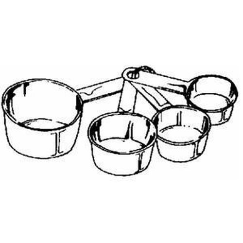 500x500 New Norpro 3052 Stainless Steel 4pc Measuring Cup Set 28901030520