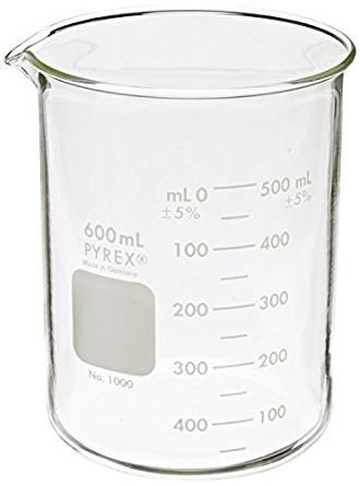 330x445 Pyrex Griffin Low Form 600ml Beaker Graduated 6pk Science Lab