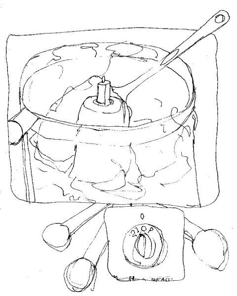 480x600 Exercise One Part One Baking Cookies Quick Line Drawings