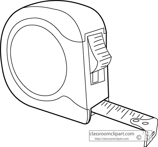 550x510 Outdoors Clipart Measuring Tape Outline