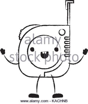 300x351 Monochrome Silhouette With Measure Tape Vector Illustration Stock