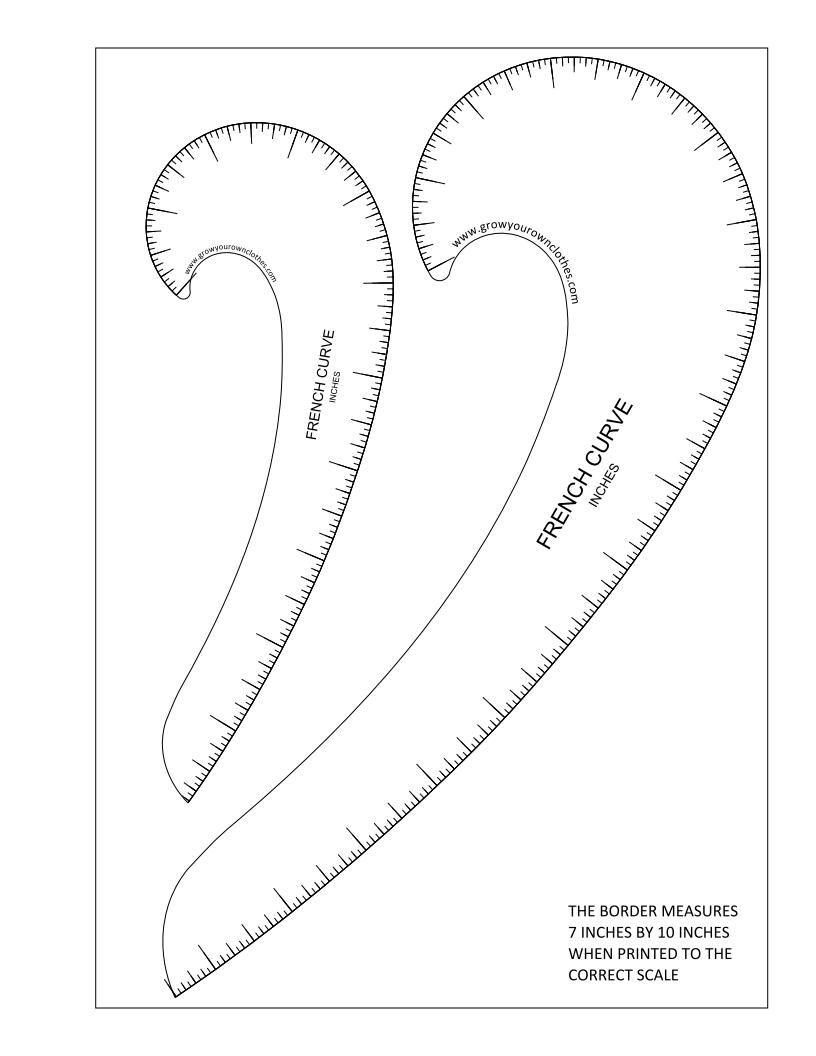 816x1056 Printable Pdfs Of Imperial And Metric French Curves And Hip Curves
