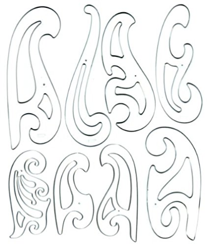 425x496 Westcott French Curve Template Set Of 8 Technical