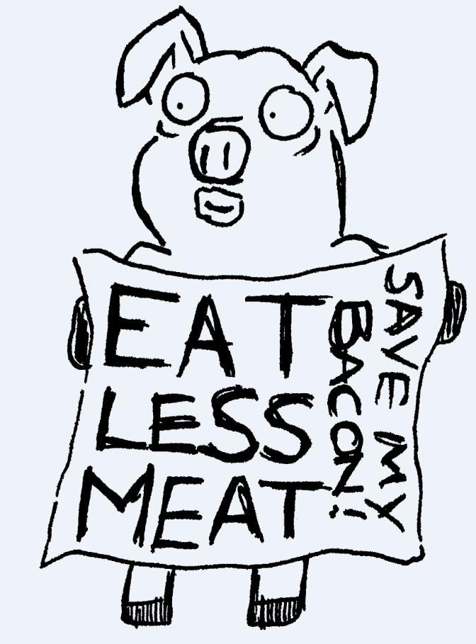 672x909 Eat Less Meat! D