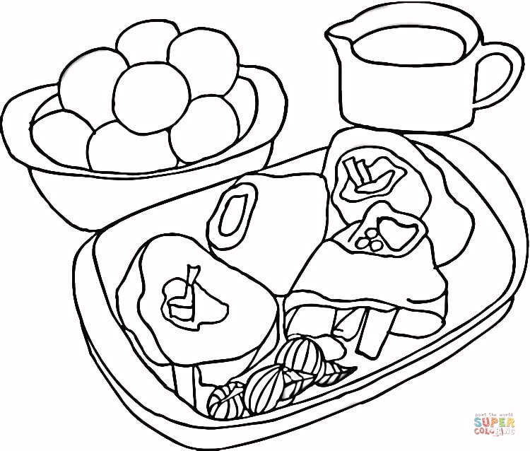 750x638 Meat Coloring Pages Free Coloring Pages