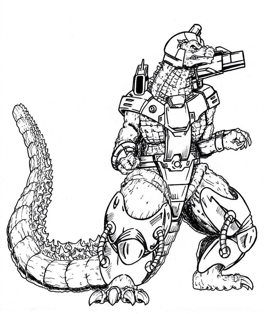 Encantador Imprimible Godzilla Para Colorear Friso - Dibujos Para ...