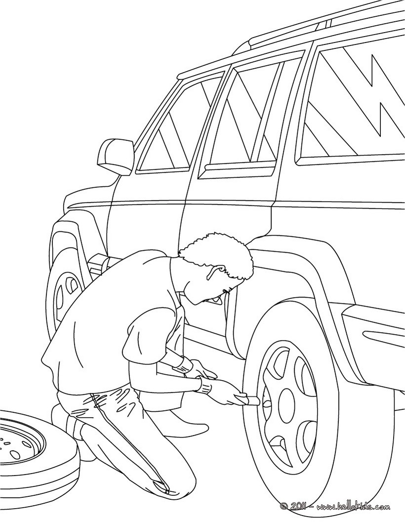 820x1060 Mechanic Coloring Pages