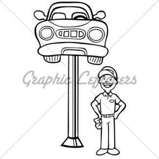 325x325 Auto Mechanic Car Hood Gl Stock Images
