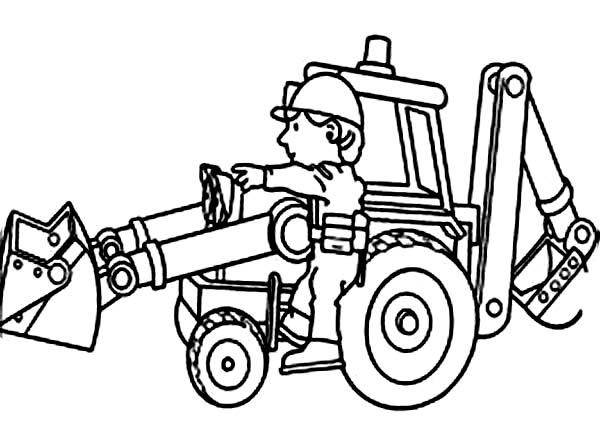 600x434 Mechanic Maintaining Bulldozer Coloring Page Coloring Sun
