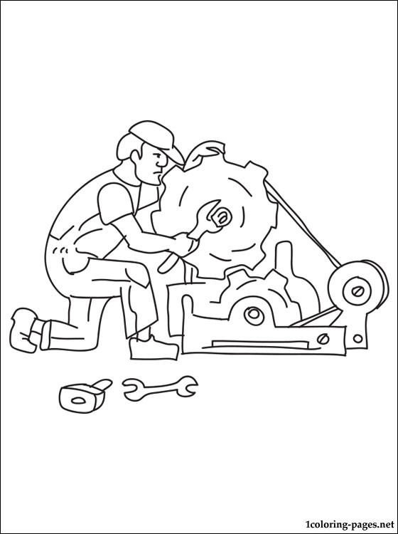 560x750 Mechanic Coloring Page Coloring Pages