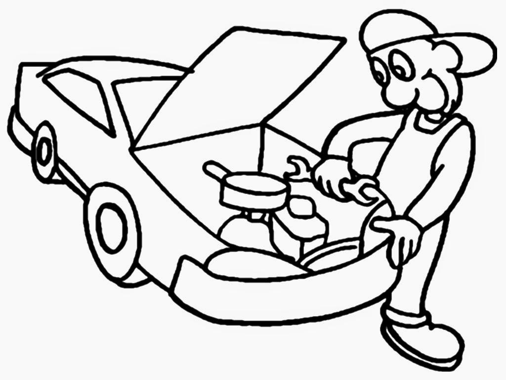 1024x768 Mechanics Coloring Pages