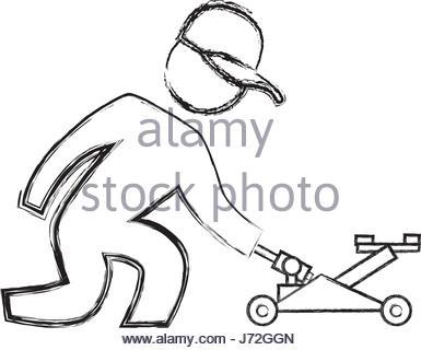 385x320 Car Mechanic Equipment Sketch Stock Vector Art Amp Illustration