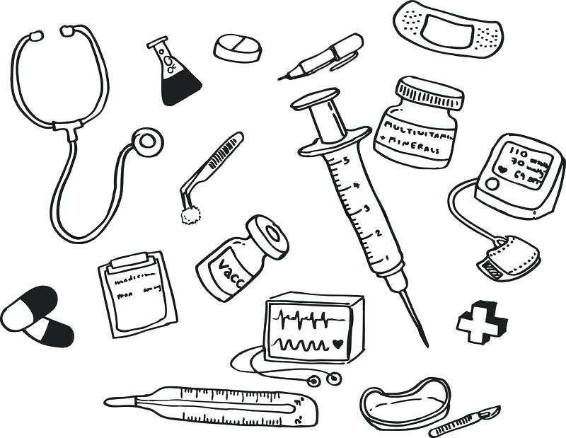 800x619 Doctor Coloring Pages Doctors Tools Page S Sketch Free Printable