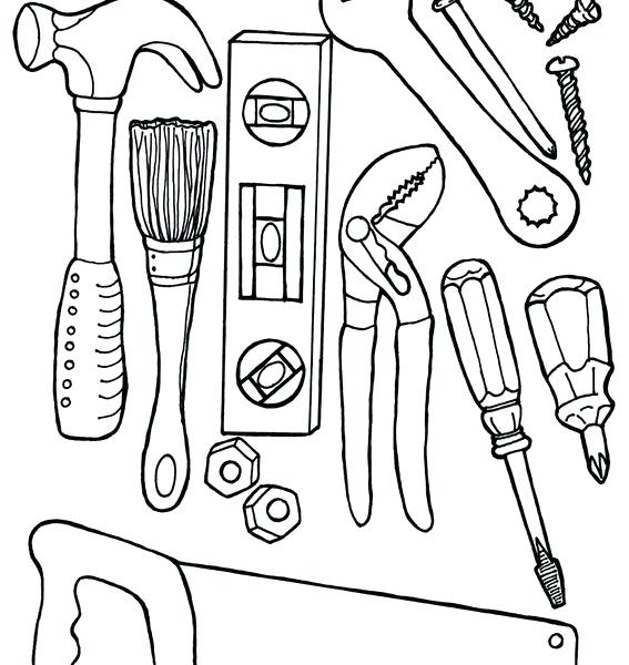 567x600 Tools Coloring Pages Construction For Kids Preschool Tool Free