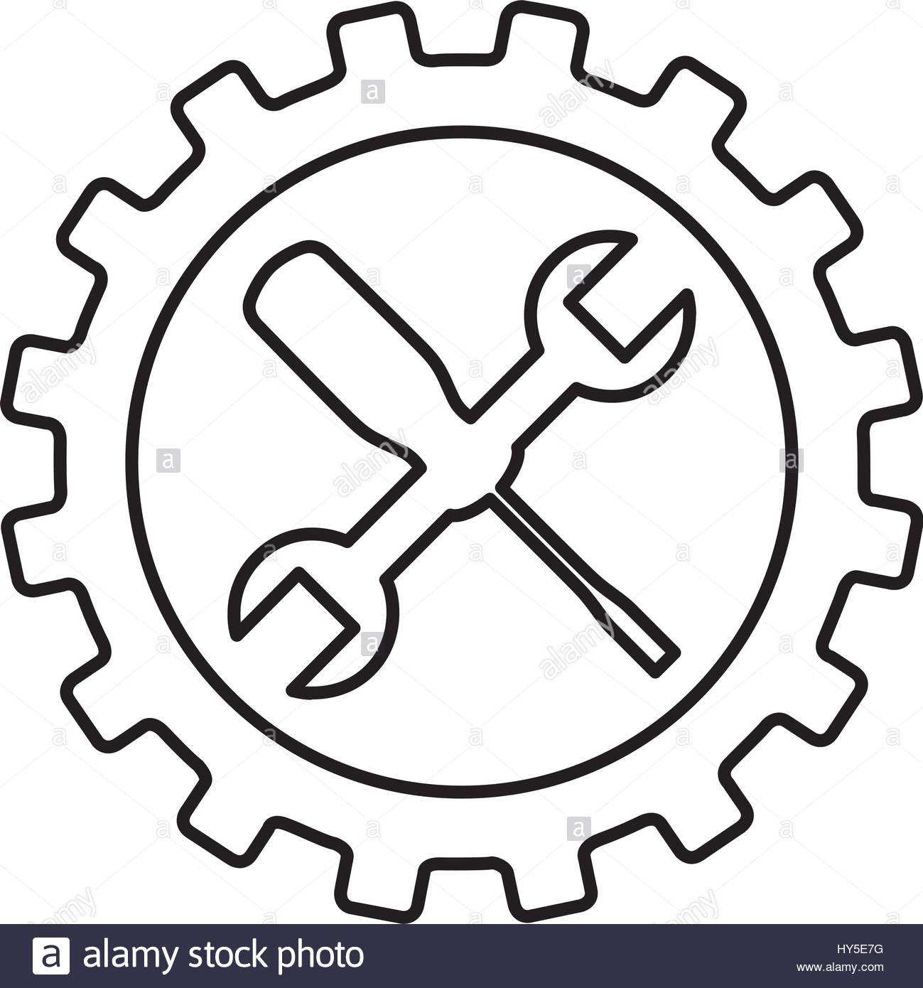1299x1390 Wrench And Screwdriver Mechanic Tools Icon Stock Vector Art