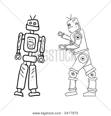 450x470 Robot Drawings Vector Amp Photo Bigstock