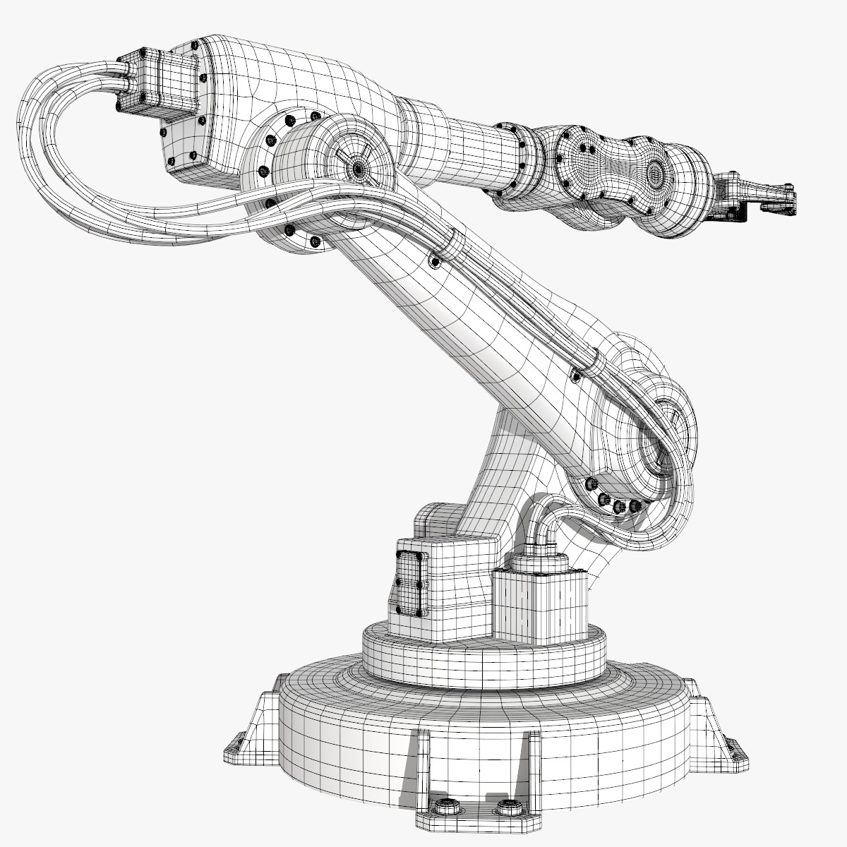 1200x1200 Fbx Industrial Robot Modeled Robots Industrial