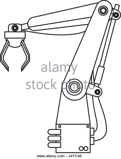 mechanical arm drawing sketch coloring page