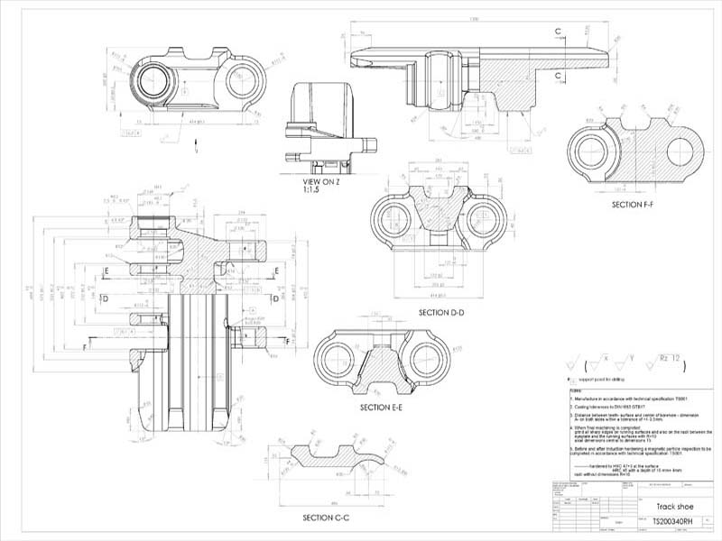 800x600 Mechanical Engineering Samples, Mechanical Shop Drawings