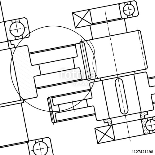 500x500 Mechanical Engineering Drawing. Blueprints. Mechanics. Engineer