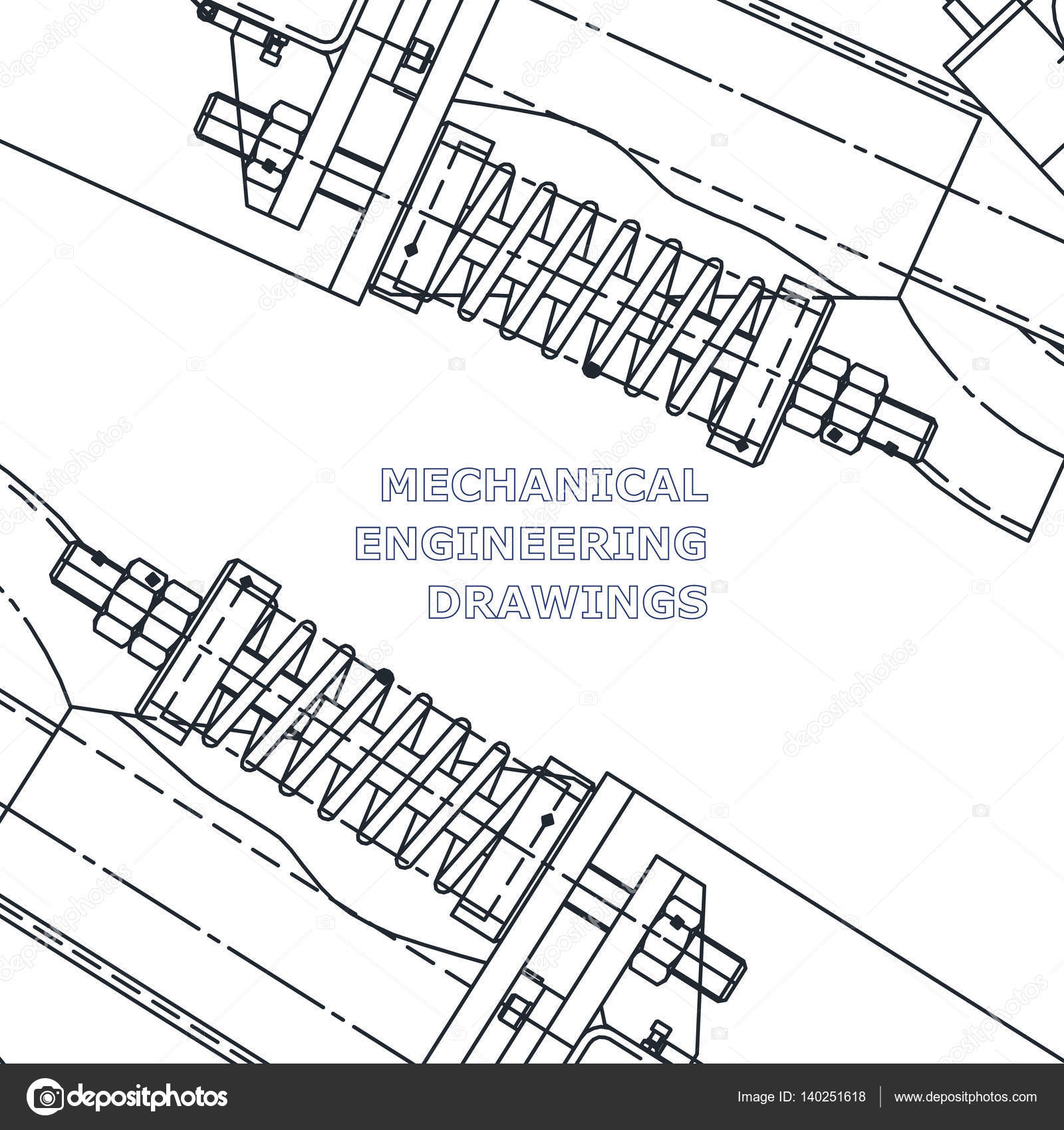 1600x1700 Mechanical Engineering The Drawing. Technical Illustrations