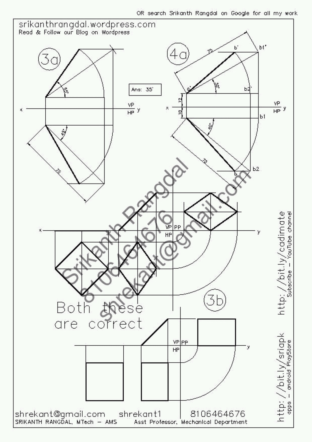 1080x1527 Solutions To Engineering Drawing Jntu Question Paper Mayjune