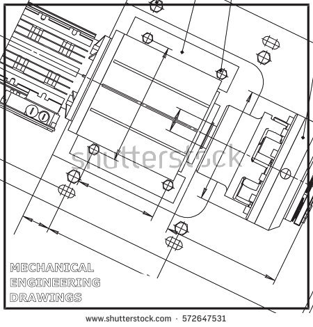 450x470 Mechanical Engineering Drawing White Background. Engineering