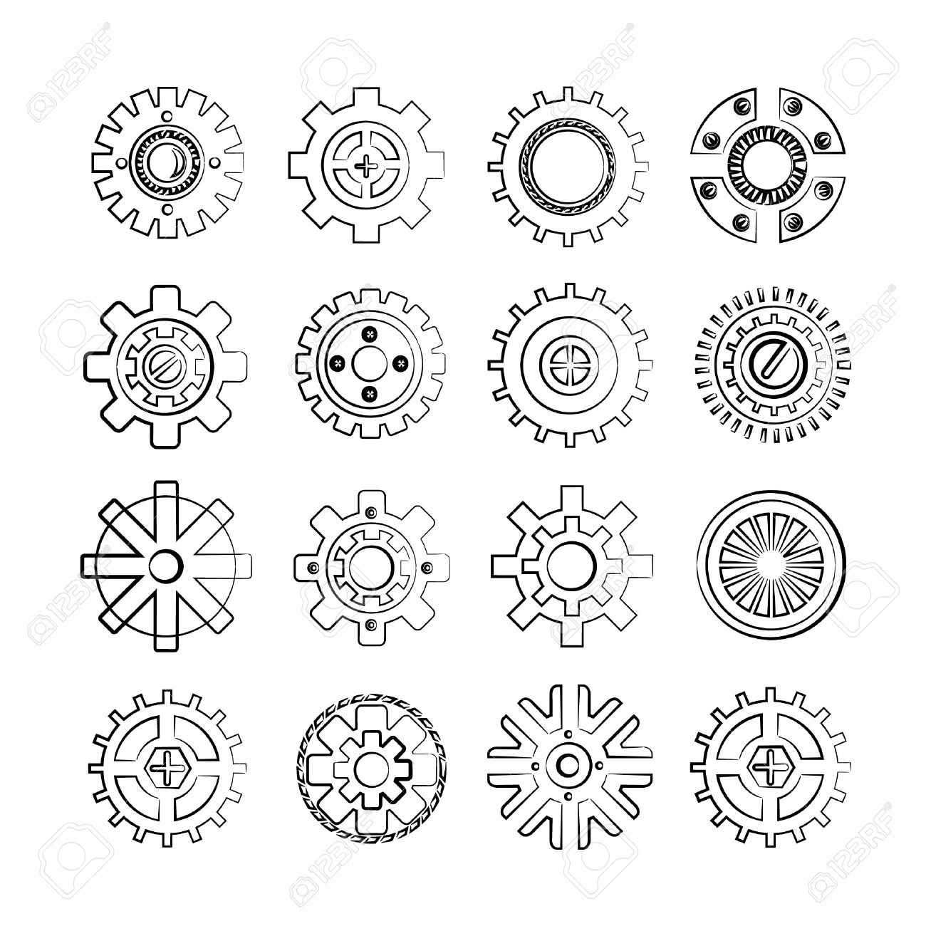 Mechanical Gears Drawing at GetDrawings | Free download