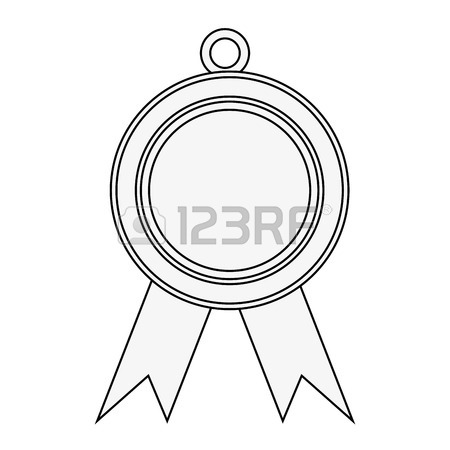 450x450 Drawing Medal Award Win Sport Image Vector Illustration Royalty