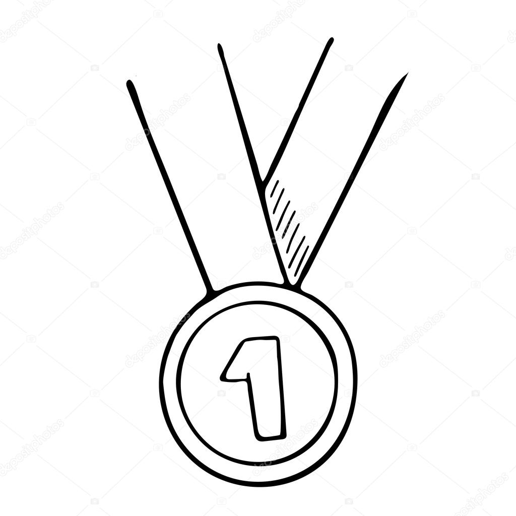 1024x1024 Hand Drawn Medal Stock Vector Dimgroshev