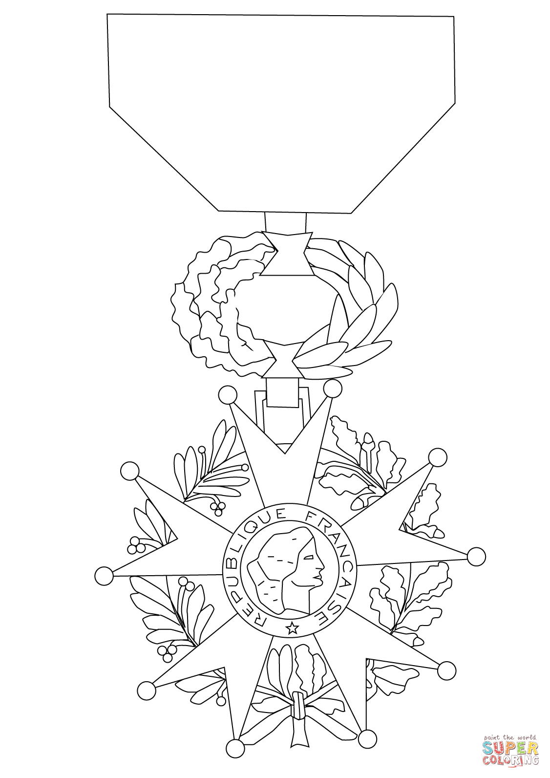 1126x1592 Medal Of The Legion Of Honor Coloring Page Free Printable