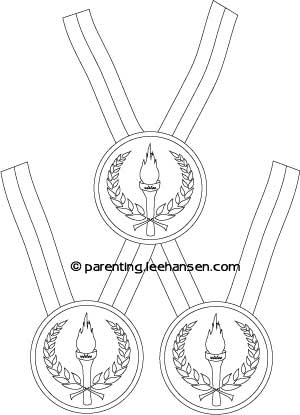 300x415 Olympic Medal Coloring Page Olympic Medal Coloring Sheet