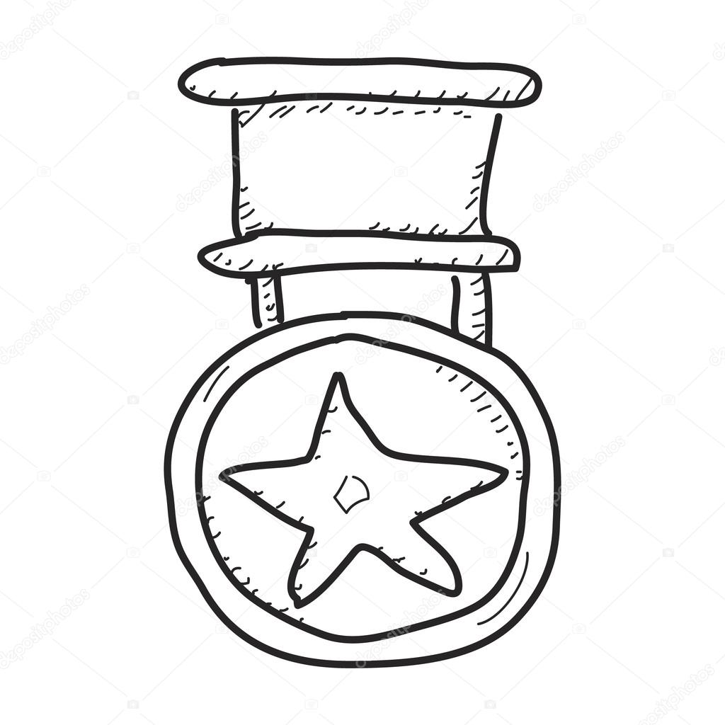 1024x1024 Simple Doodle Of A Medal Stock Vector Chrishall