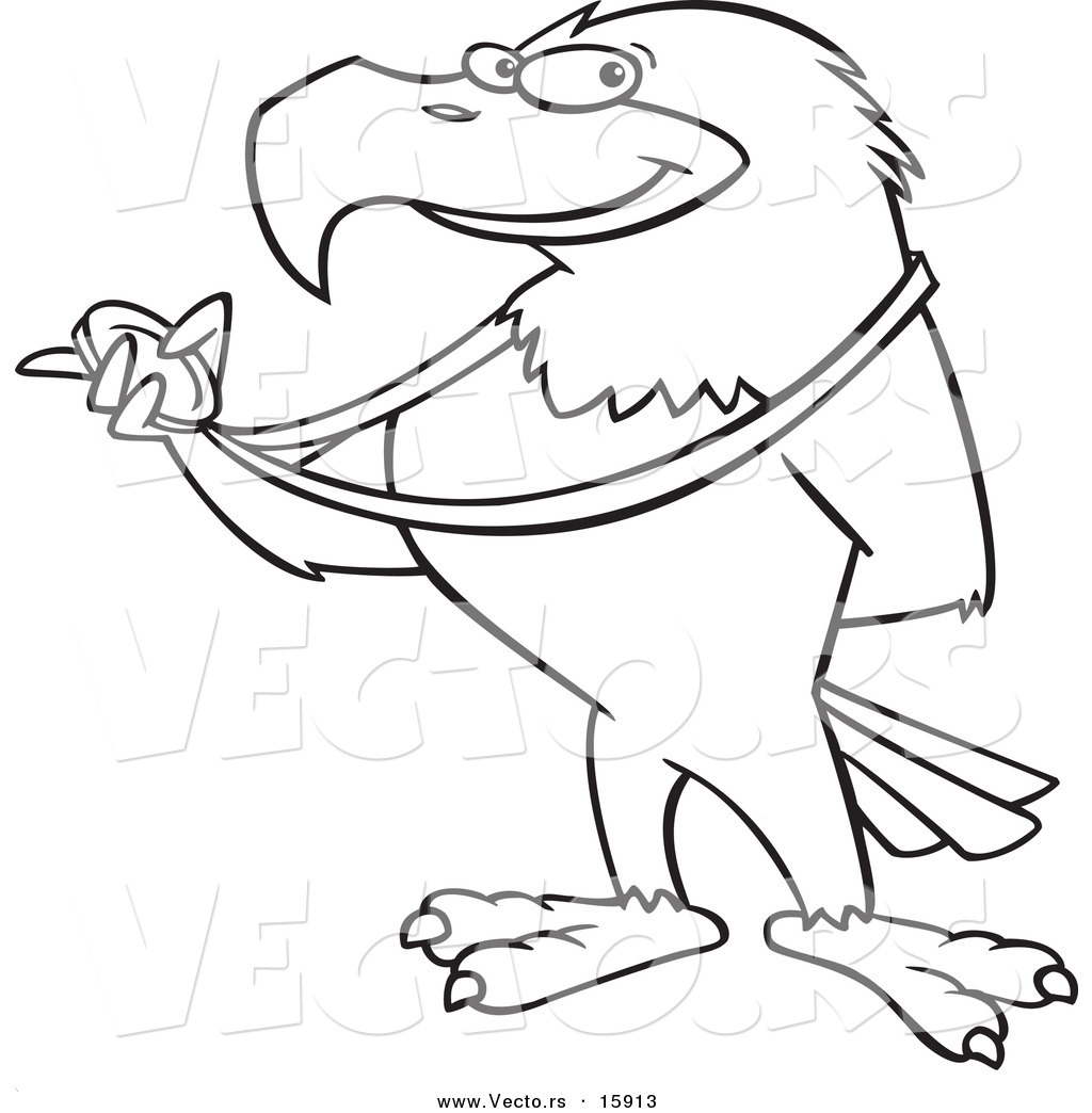 1024x1044 Vector Of A Cartoon Bald Eagle Holding A Medal