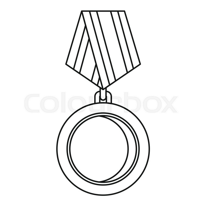 800x800 Winning Medal Icon. Outline Illustration Of Winning Medal Vector