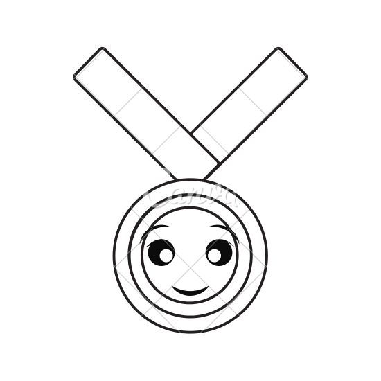 550x550 Kawaii Medal Of Honor Vector Illustration