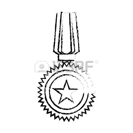 450x450 Medal Of Honor For The Best Military, Vector Illustrtion Design