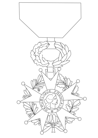 339x480 Medal Of The Legion Of Honor Coloring Page Free Printable