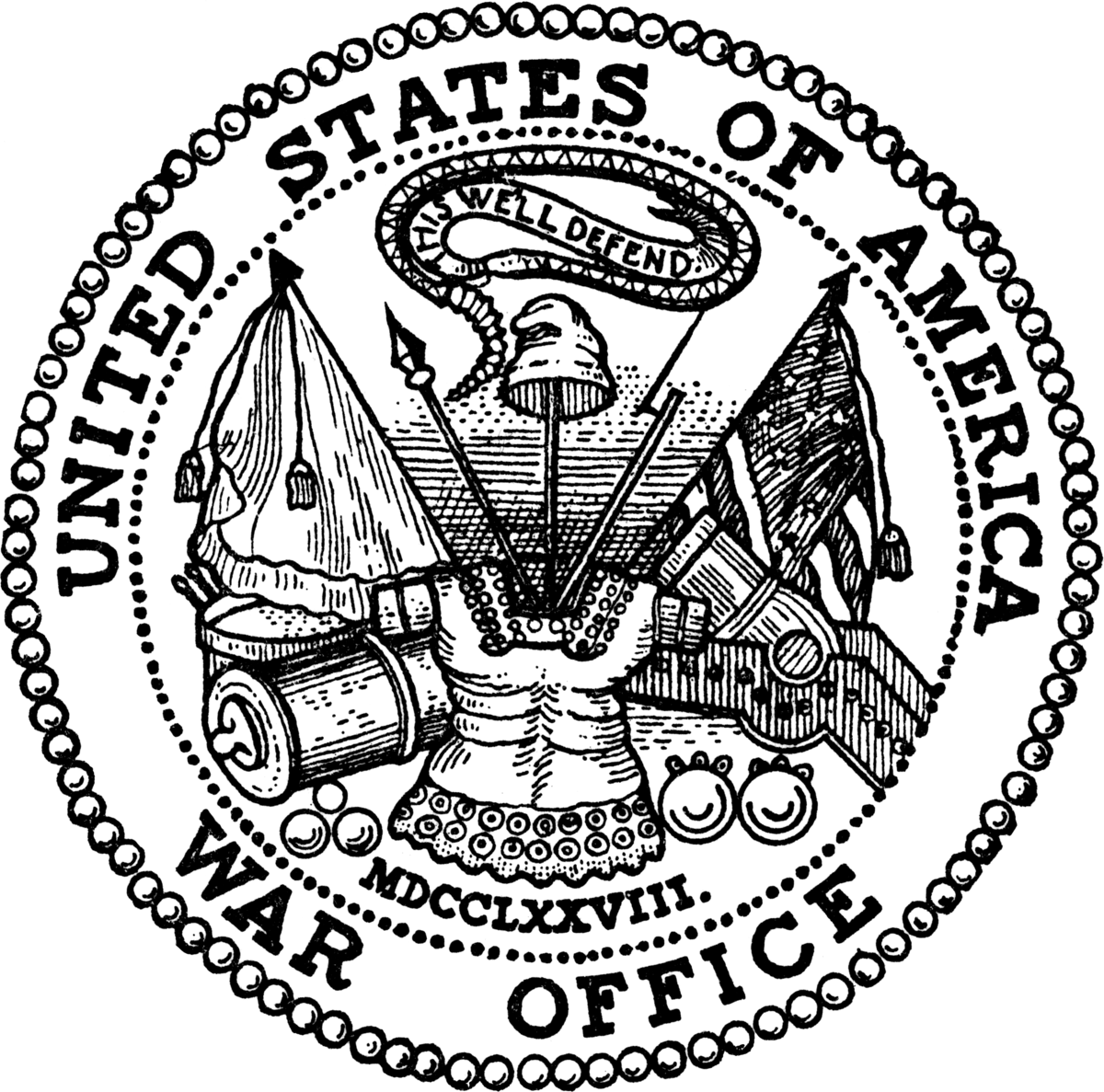 1200x1187 Seal And Emblem Of The United States Department Of The Army