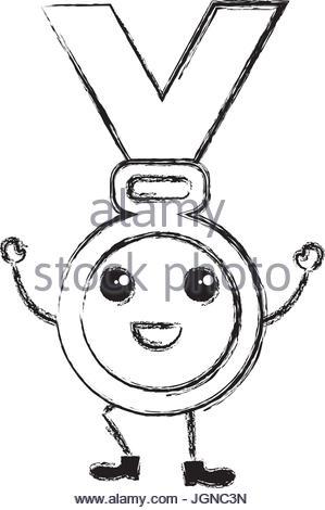 299x470 Kawaii Medal Of Honor Vector Illustration Stock Vector Art