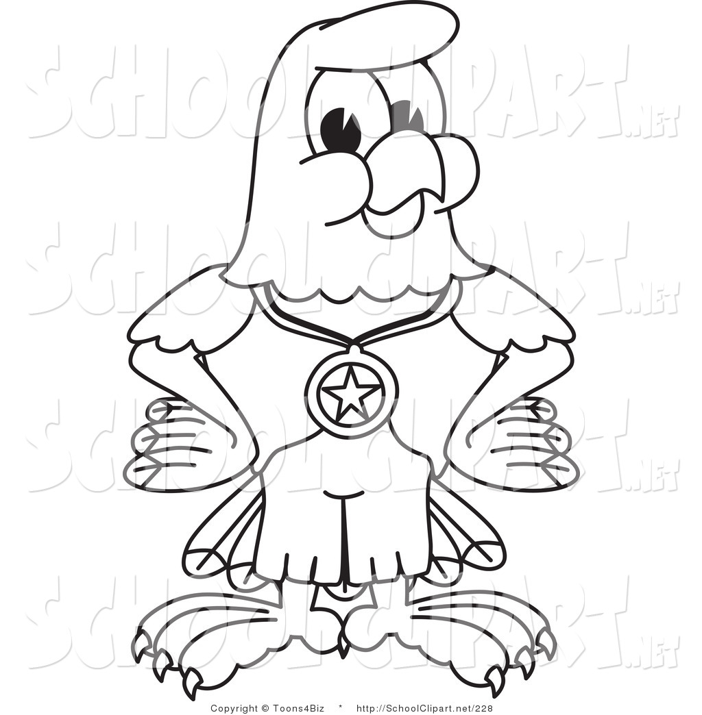 1024x1044 Cliprt Of Coloring Page Bald Eagle Hawk Or Falcon Wearing