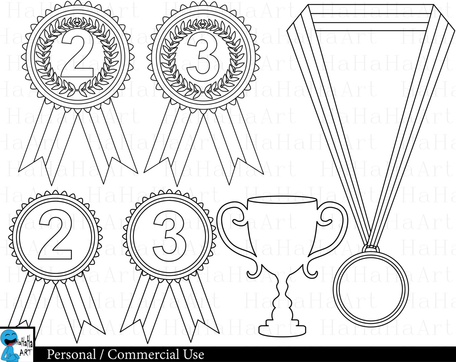 1500x1189 Outline Winner Medals
