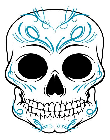 438x557 A Pseudo Sugar Skull From Start To Finish.