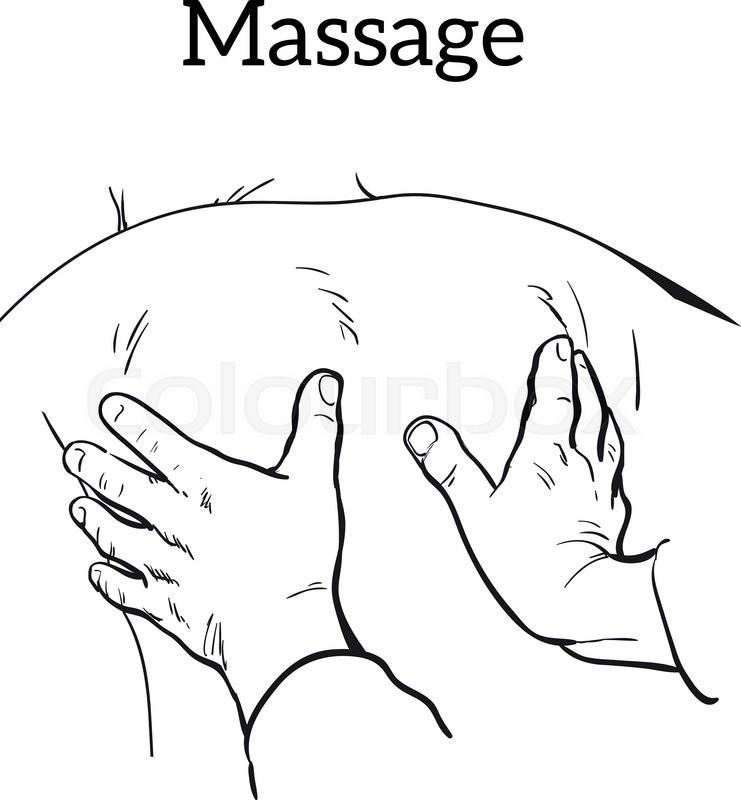 741x800 Hand Massage, Back Massage, Body Massage. Types Of Massage. Set