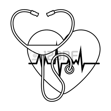 Medical Heart Drawing